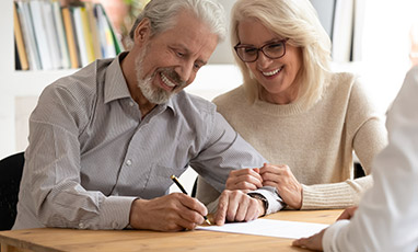 couple meeting with an estate planning attorney